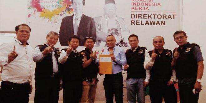 Tohom Purba dan Arnol Sinaga Daftarkan Relawan Martabat ke TKN, Optimis Menangkan Jokowi - Ma'ruf
